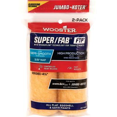 Jumbo-Koter S/F FTP 4-1/2 In. x 3/8 In. Knit Roller Cover (2 Pack)