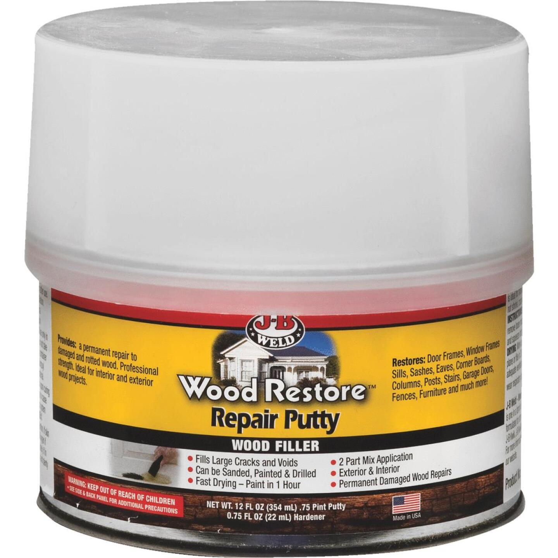 J-B Weld Wood Restore 12 Oz. 2-Part Repair Wood Putty Image 1