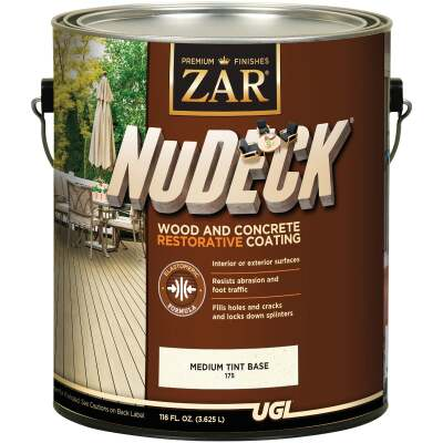ZAR NuDeck 1 Gal. Medium Tint Base Wood & Concrete Restorative Coating