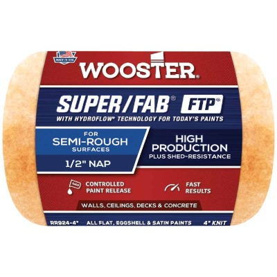 Wooster Super/Fab FTP 4 In. x 1/2 In. Knit Fabric Roller Cover