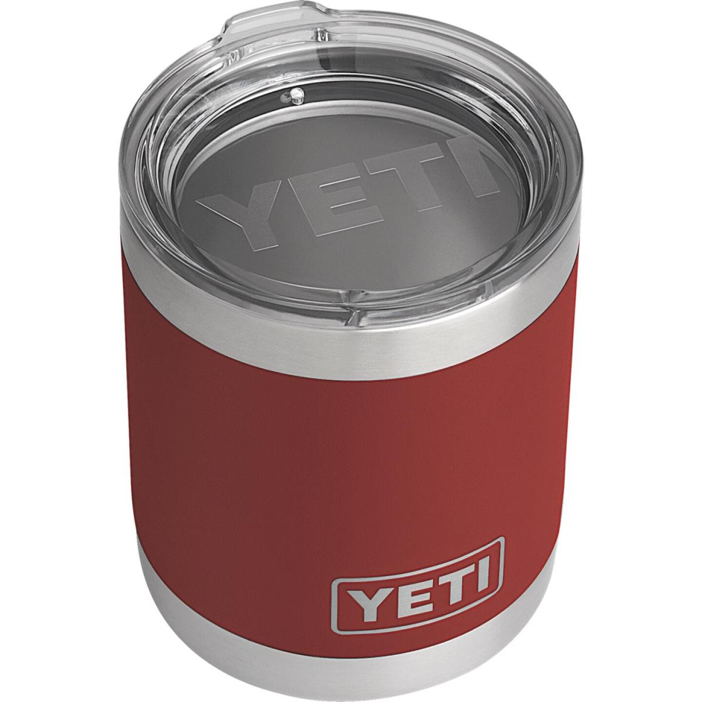 Yeti Rambler Lowball 10 Oz. Brick Red Stainless Steel Insulated Tumbler Image 1