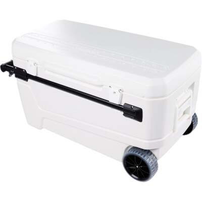 Igloo Glide Pro 110 Qt. 2-Wheeled Cooler, White
