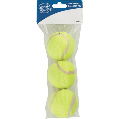 Smart Savers 6 Cm. Dia. Tennis Ball Dog Toy (3-Pack)