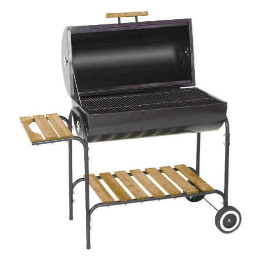 Kay Home Products 30 In. L. x 16 In. Dia. Black Charcoal Grill