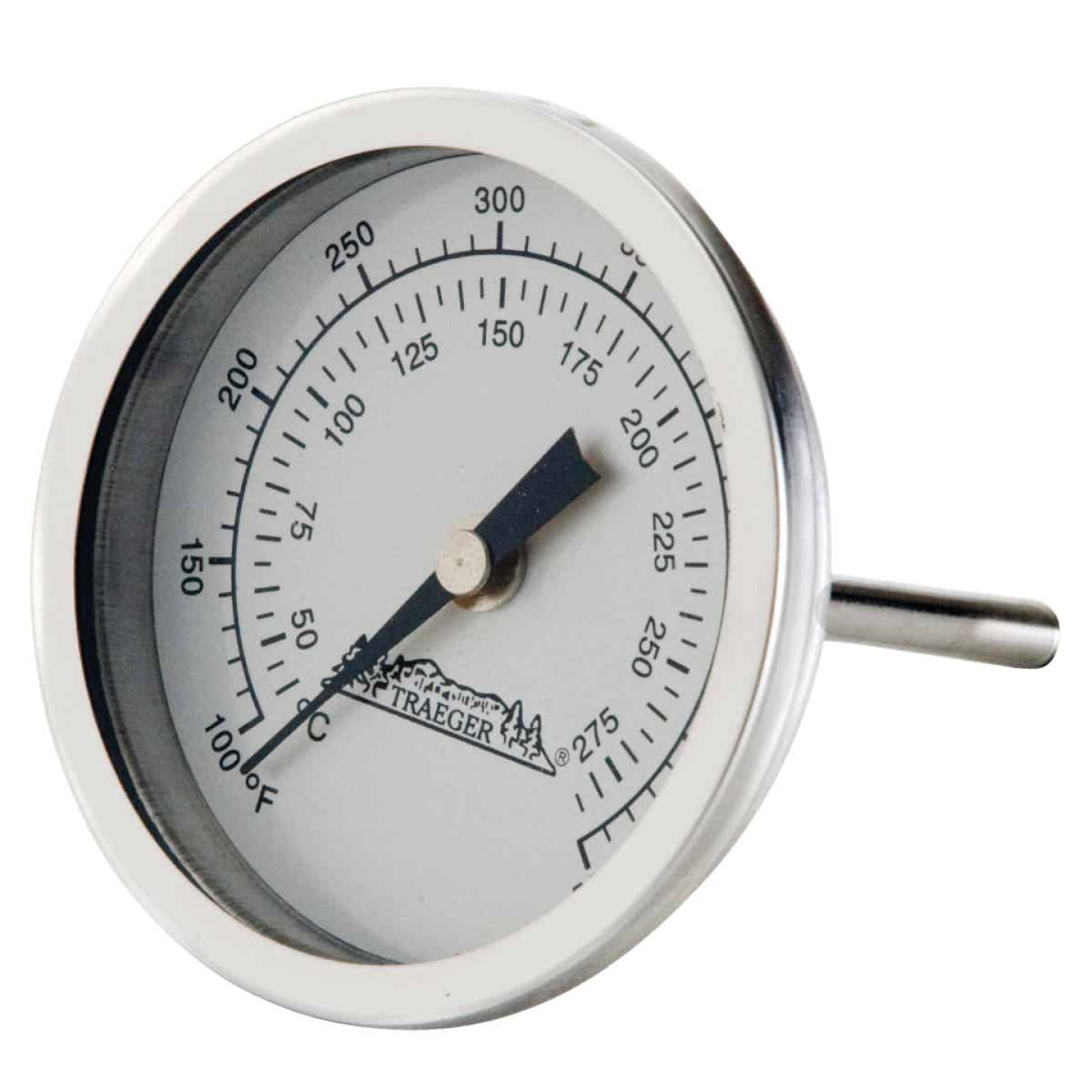 Traeger Analog 3-1/2 In. Stainless Steel Dome Thermometer Image 1