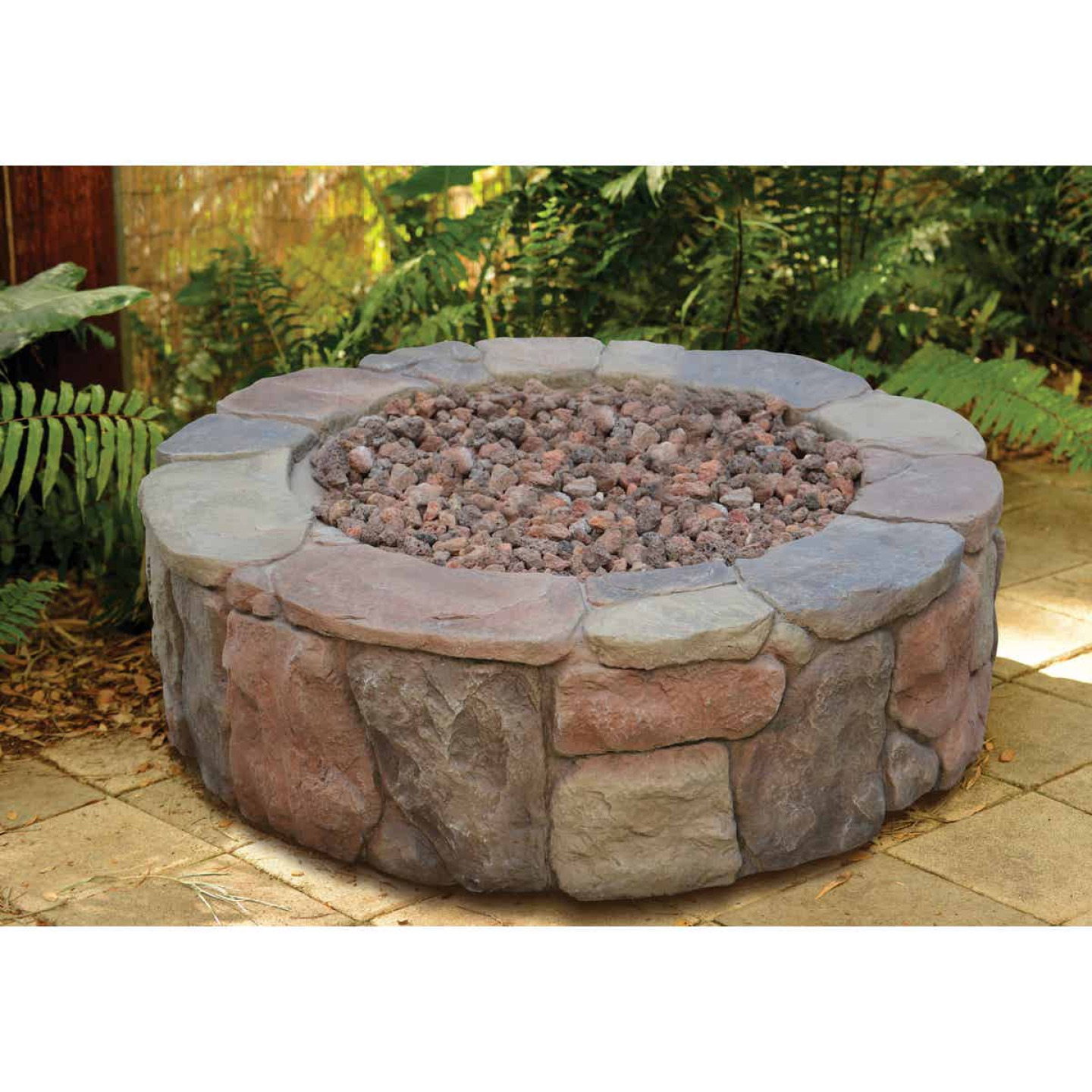 Bond Petra 36 In. Round Faux Stone Fire Pit Image 2