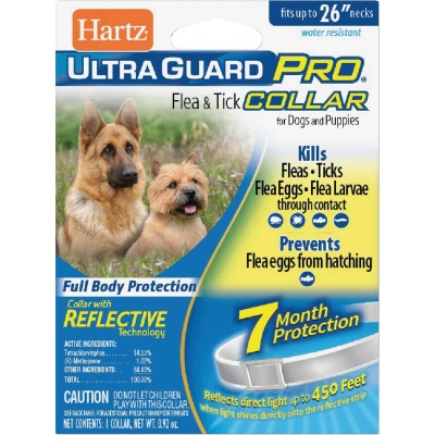Hartz UltraGuard Pro Flea & Tick Water Resistant Reflective Collar For Dogs & Puppies
