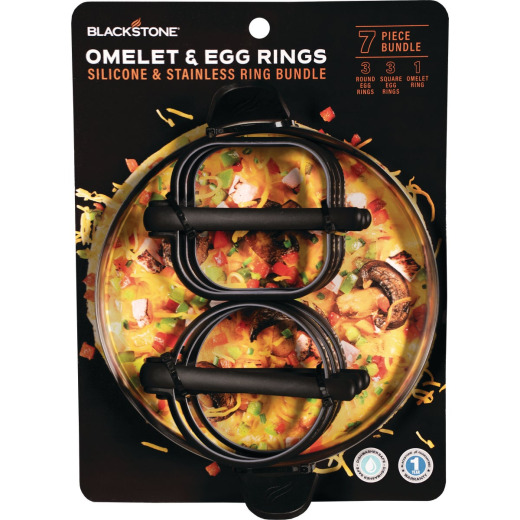 Blackstone Silicone Egg Ring and Omelette Ring 8-Piece Tool Set