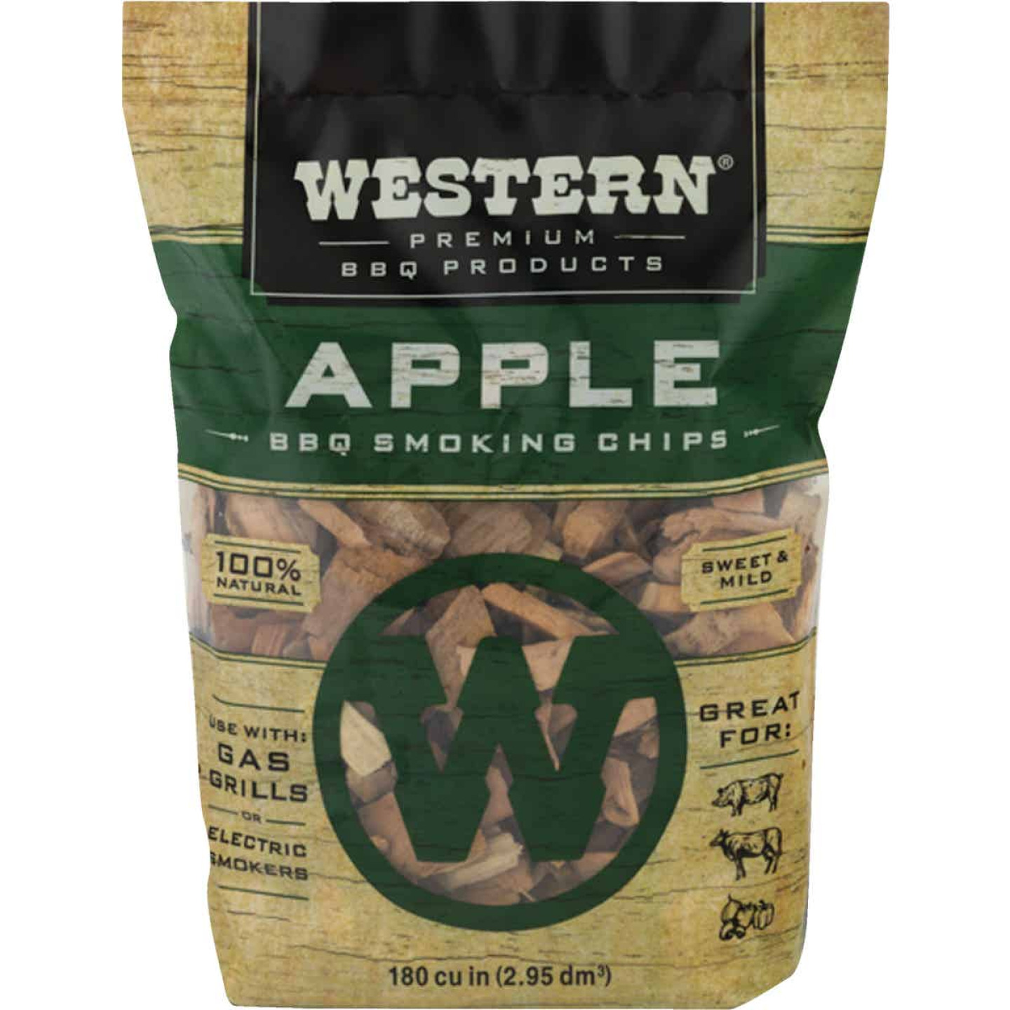 Western 2 Lb. Apple Wood Smoking Chips Image 1
