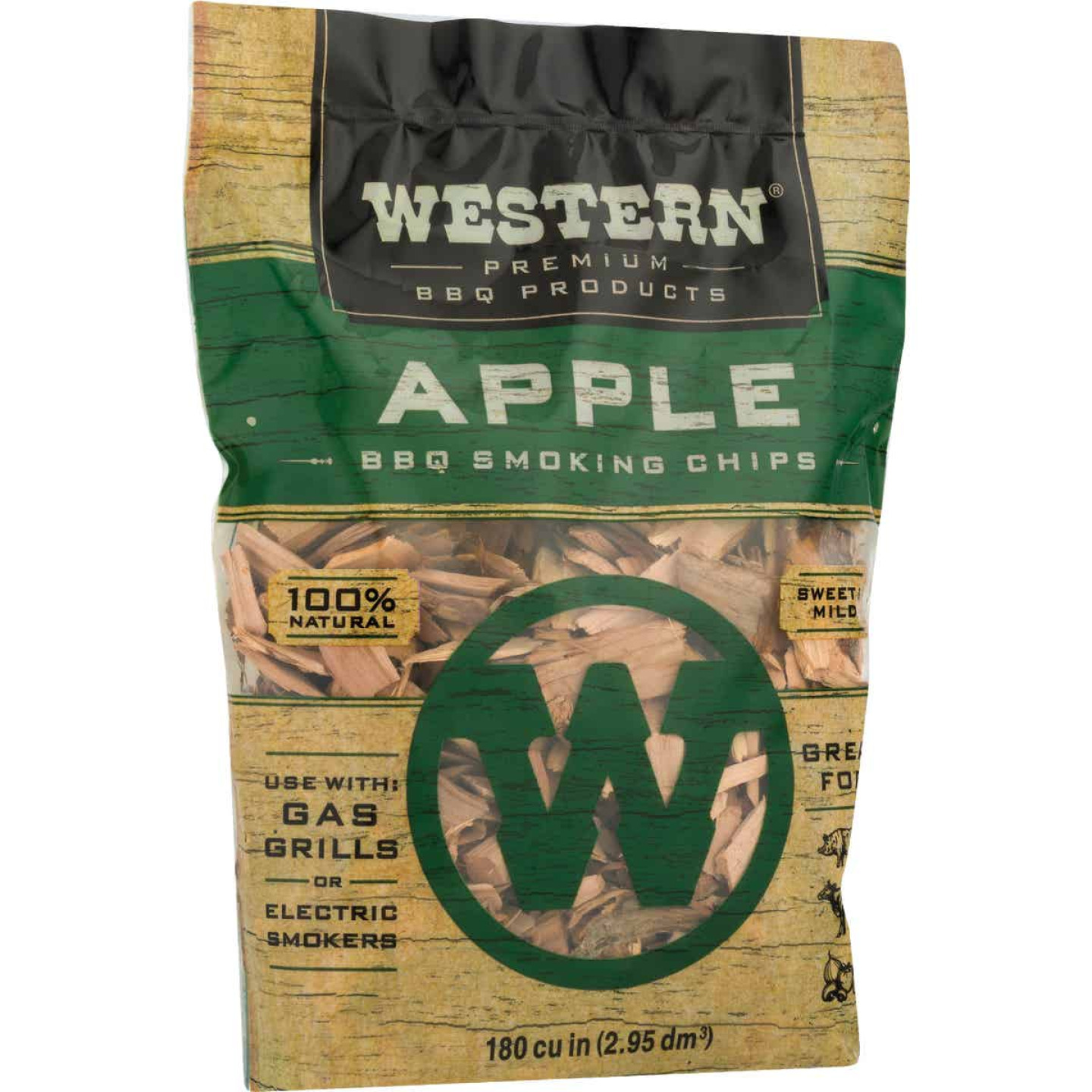 Western 2 Lb. Apple Wood Smoking Chips Image 4