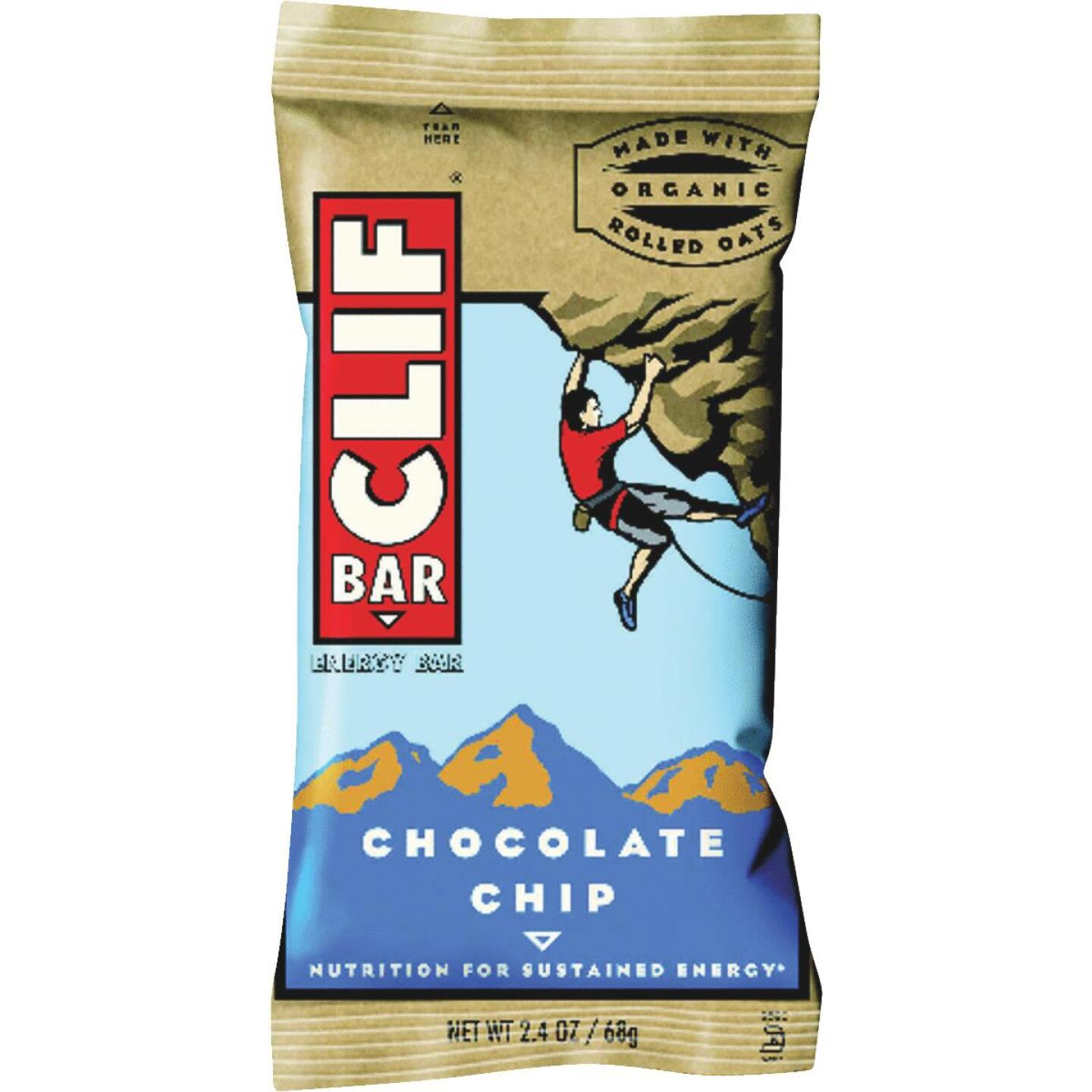 Clif Bar Chocolate Chip 2.4 Oz. Energy Nutrition Bar Image 1